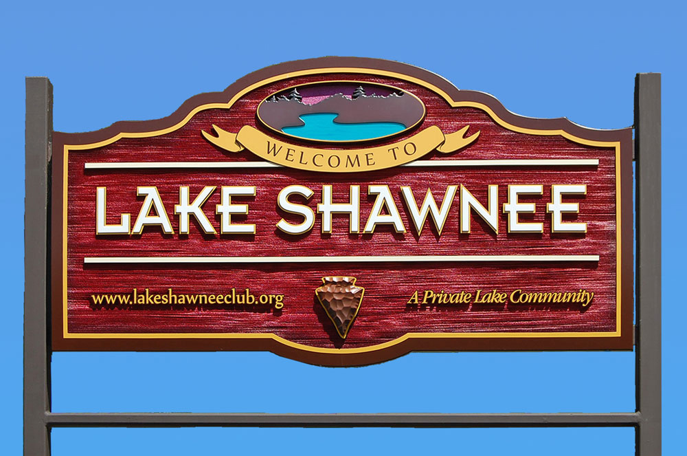 Lake Shawnee Sign